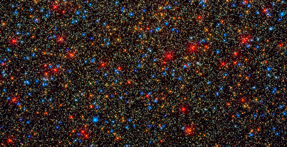 Omega de Centauri vu par Hubble