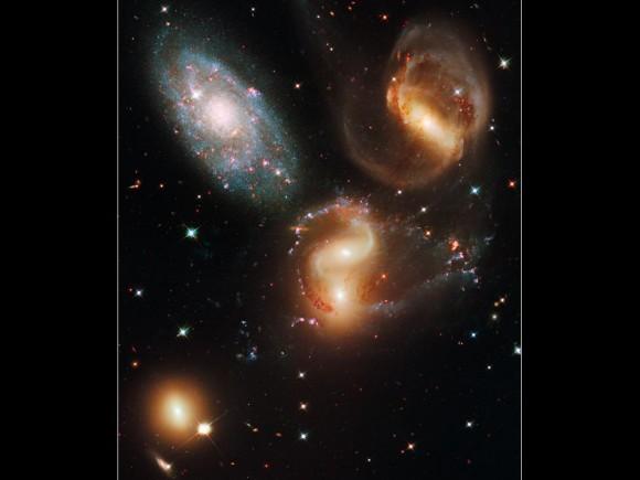 Stephans-Quintet vu par Hubble