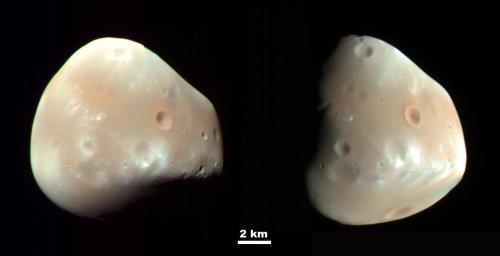 Deimos vu par Mars Reconnaissance Orbiter