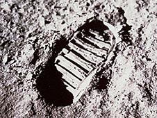 Empreint sur la lune