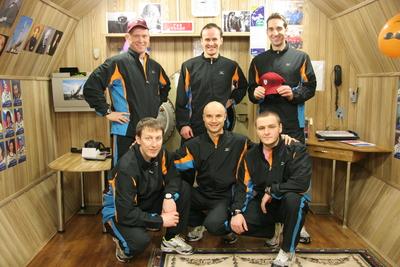 Les six membres d'équipage Mars500