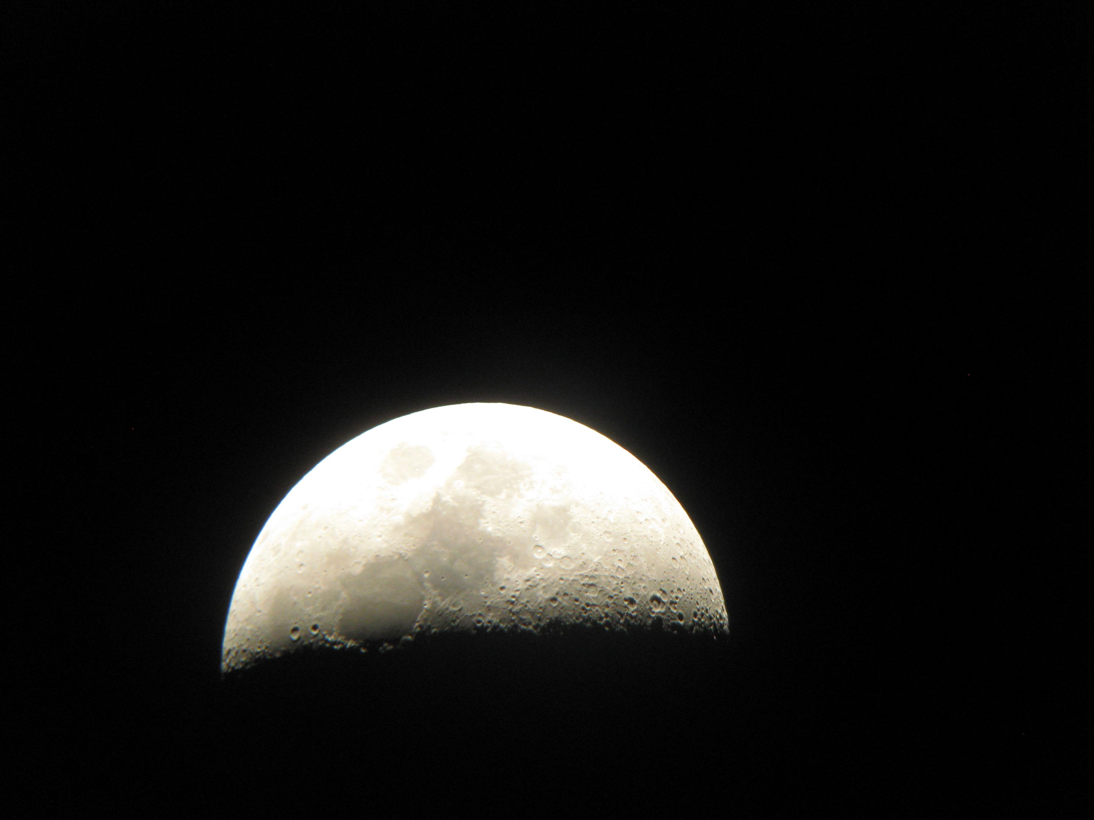 La Lune pris avec un APN