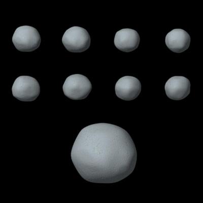 Model en 3 dimensions de Pallas 2 à partir de données fournies par Hubble