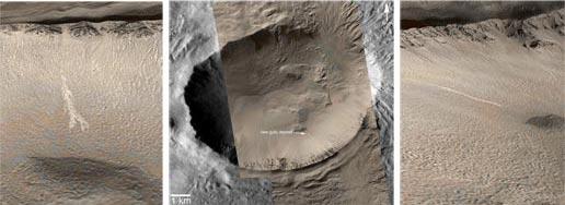 Image prise par Mars Global Surveyor