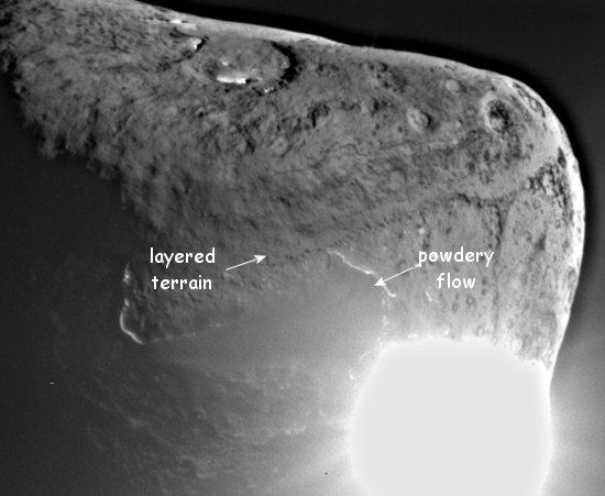 Comet Tempel  vu par Deep Impact