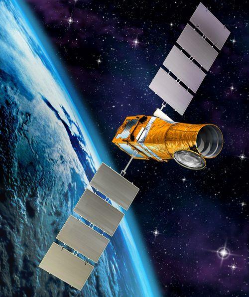 COROT en orbite autour de la Terre (vue d'artiste)