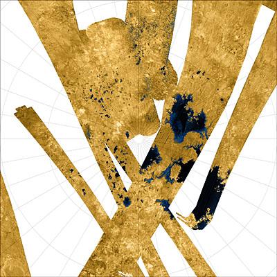 Le pôle nord de Titan