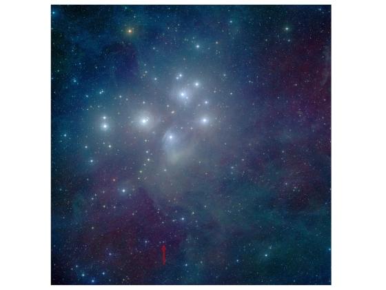 Les Pleiades vu par Spitzer