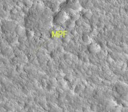 Mars Pathfinder vu par MRO