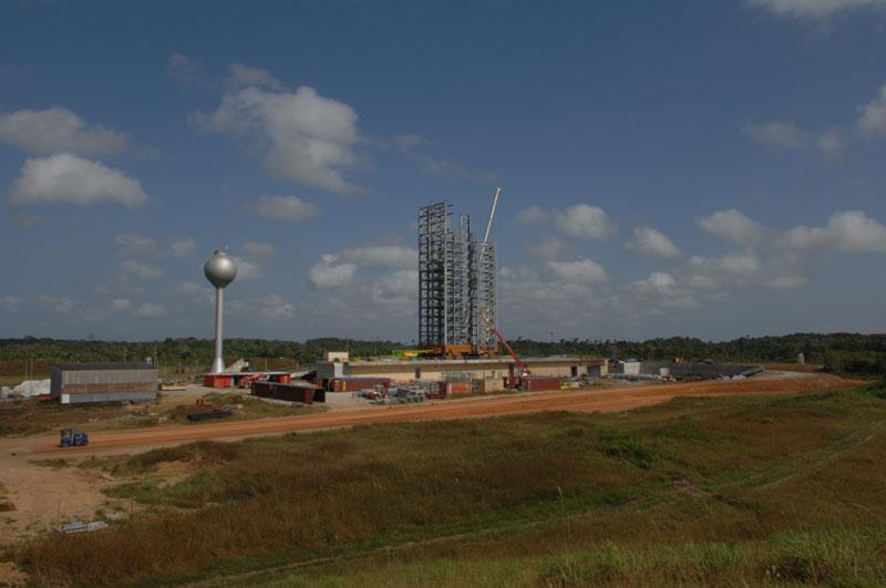 La Zone de lancement Vega en construction