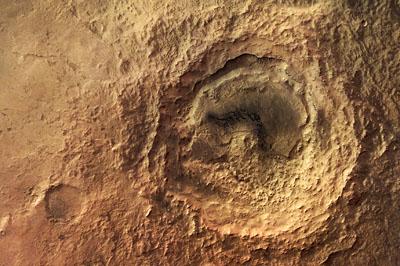 Cratère Maunder sur Mars vu par Mars Express