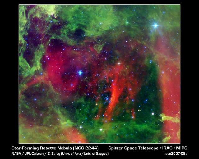 Nebuleuse Rosette vu par Spitzer