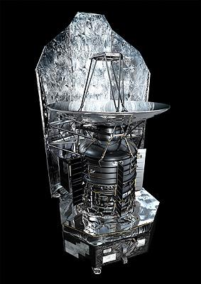 Le Téléscope Spatiale Herschel vu d'artiste