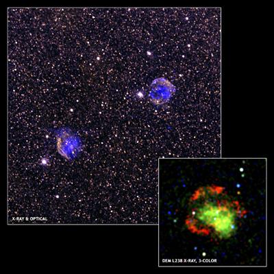 Les restes de deux supernovae dans le grand nuage de Magellan