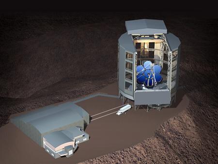 Grand Téléscope de Magellan vu d'artiste