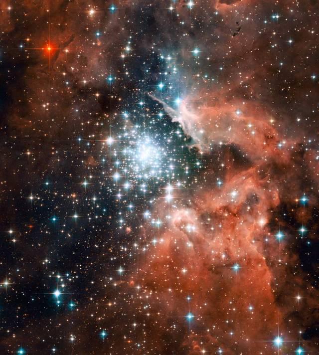 NGC3603 vu par Hubble