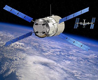 Jules Vernes approche la Station spatiale internationale