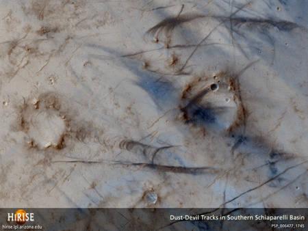 Le surface de Mars vu par HiRise