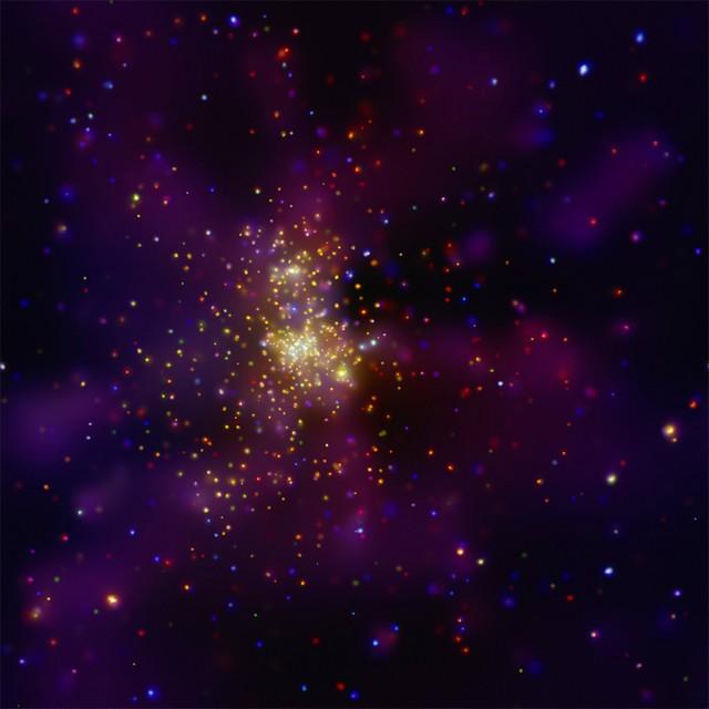 Westerlund 2 vu par Chandra
