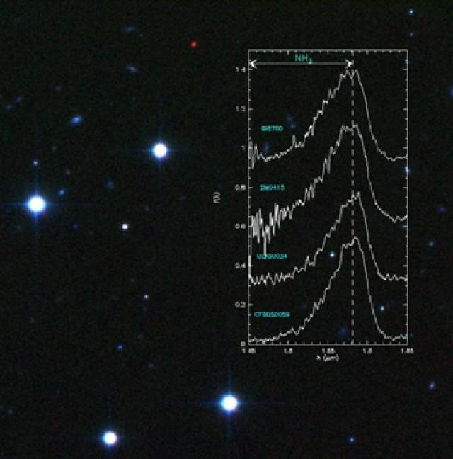 Image 3 couleurs du champ d'étoiles dans lequel la naine brune a été découverte