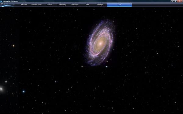 Aperçu du logiciel WorldWide Telescope de Microsoft