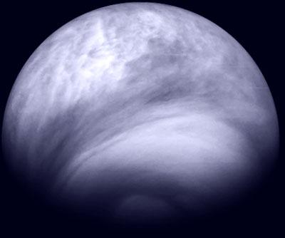 Vénus en ultraviolet vu par Vénus Express