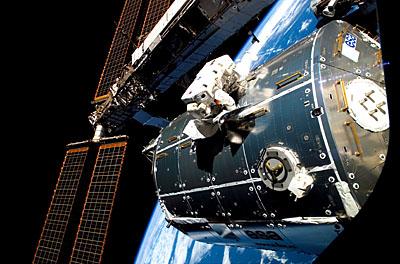 ESA astronaut Hans Schlegel